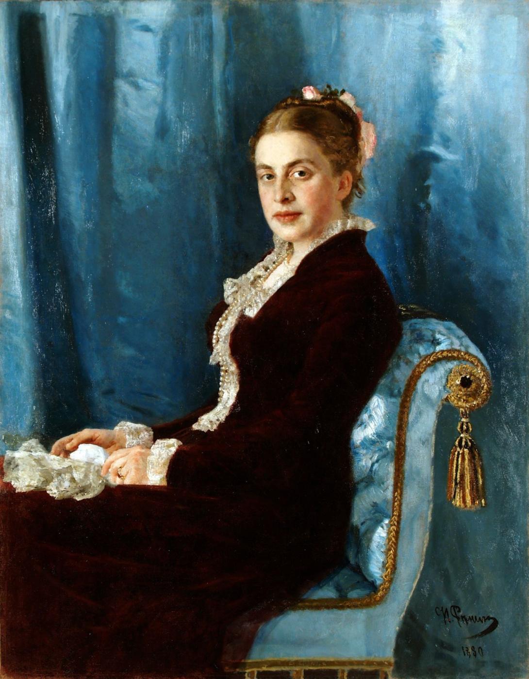 Ilya Efimovich Repin. Portrait Of Elizaveta V. Sapozhnikova