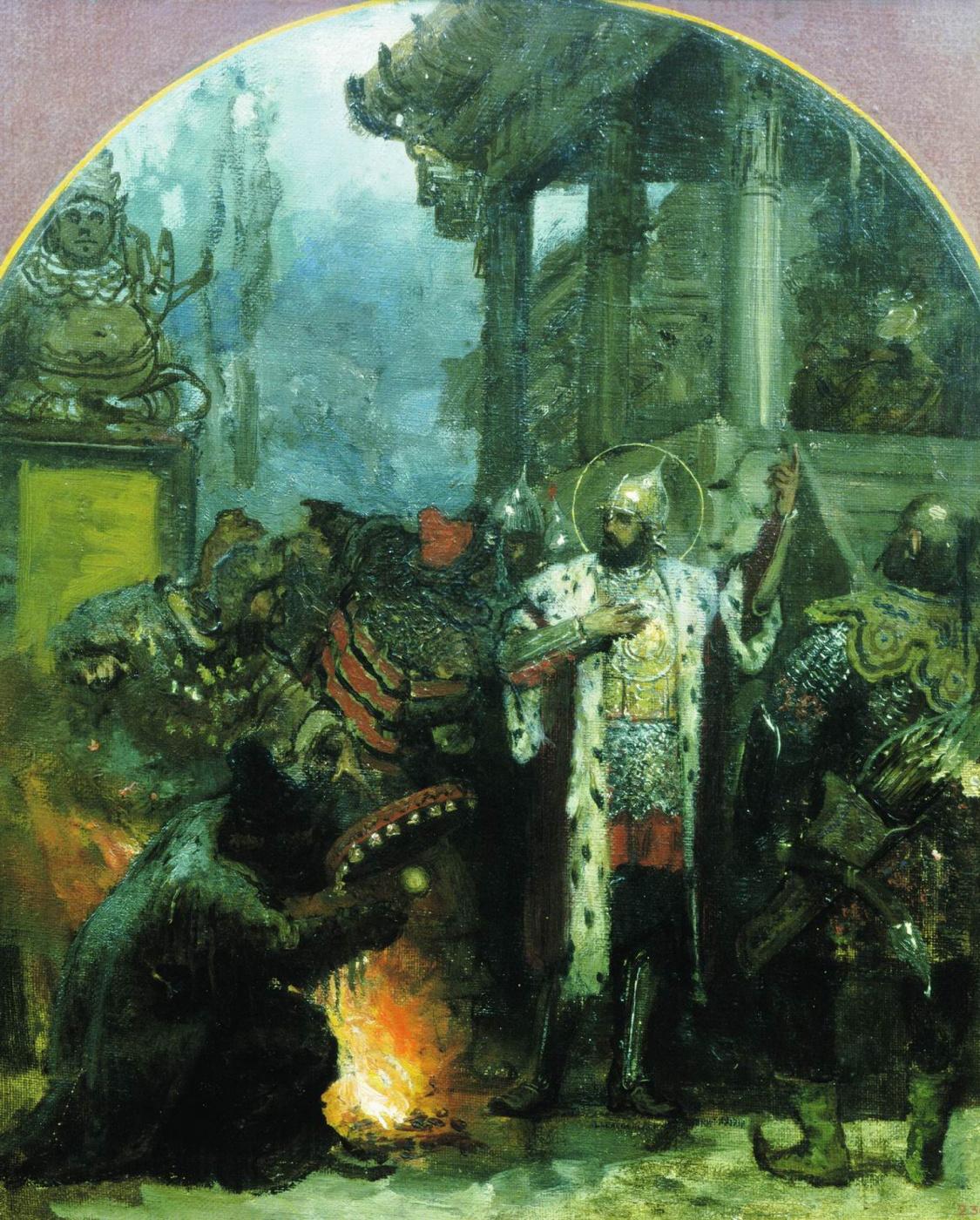 Генрих Ипполитович Семирадский. Alexander Nevsky in the Horde