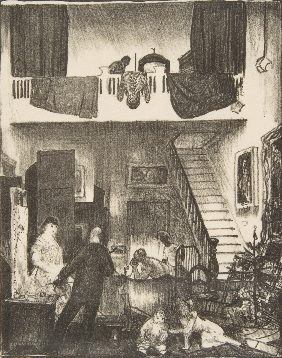 George Wesley Bellows. Studio. Christmas 1916
