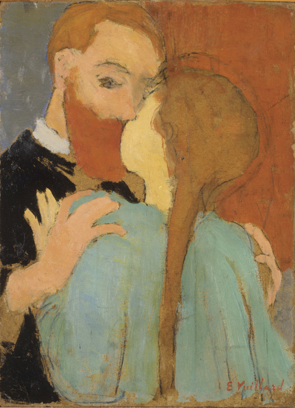 Jean Edouard Vuillard. Self-Portrait with Sister