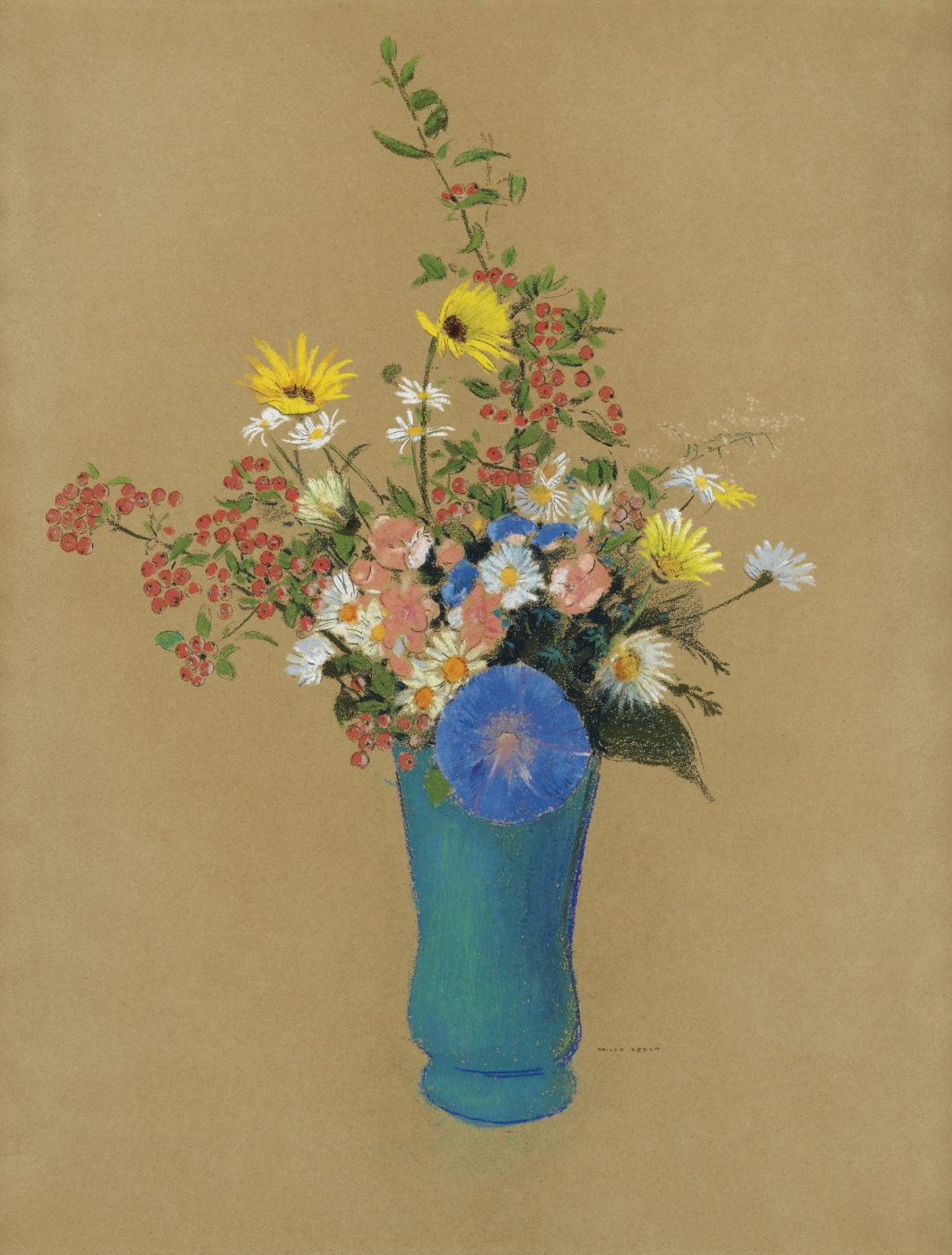 Odilon Redon. Bouquet of flowers