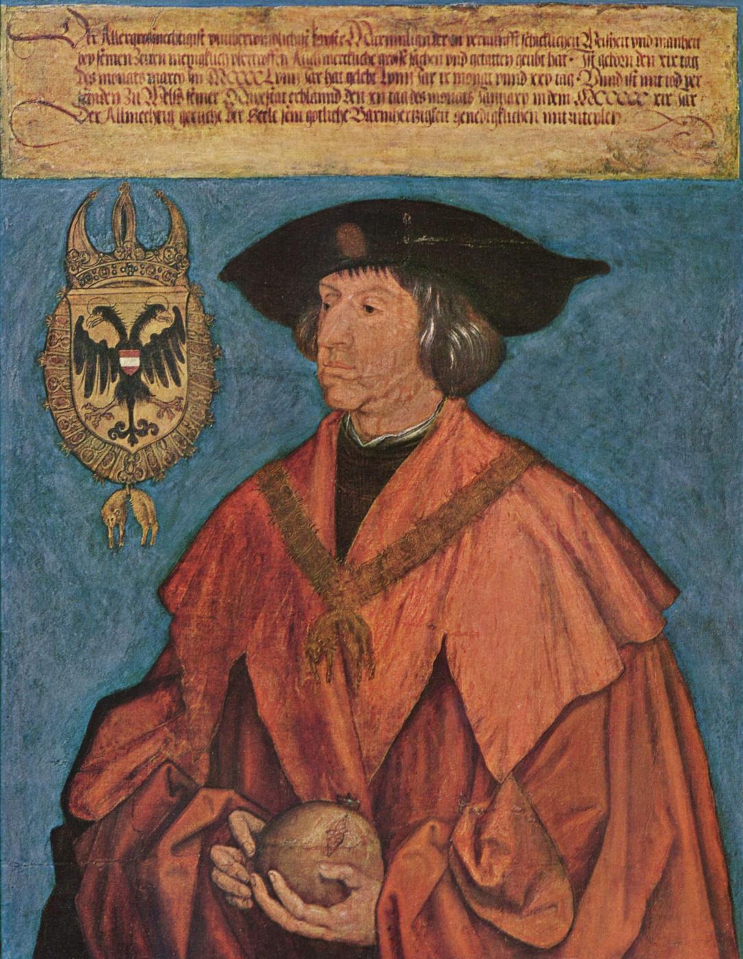 Albrecht Dürer. Portrait of the Emperor Maximilian the First