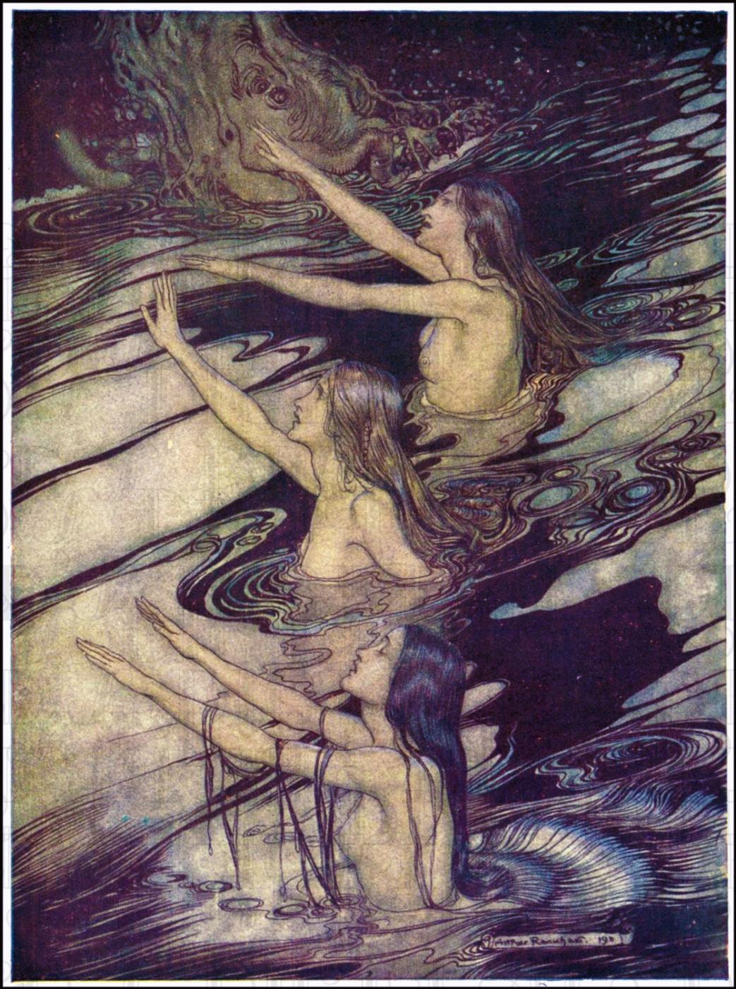 Arthur Rackham. The Gold of the Rhine