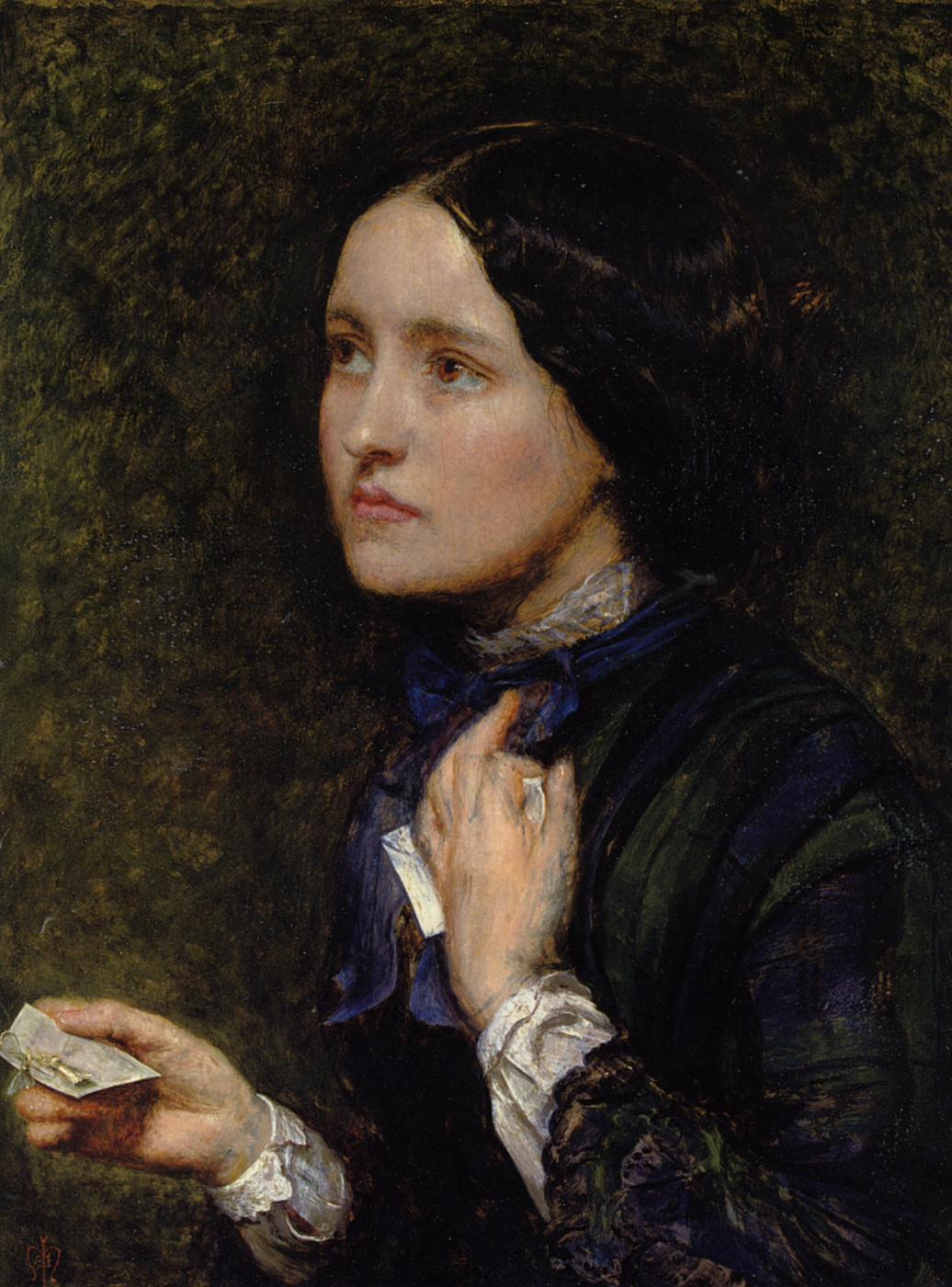 John Everett Millais. Letter. Portrait Of EFFIE Gray