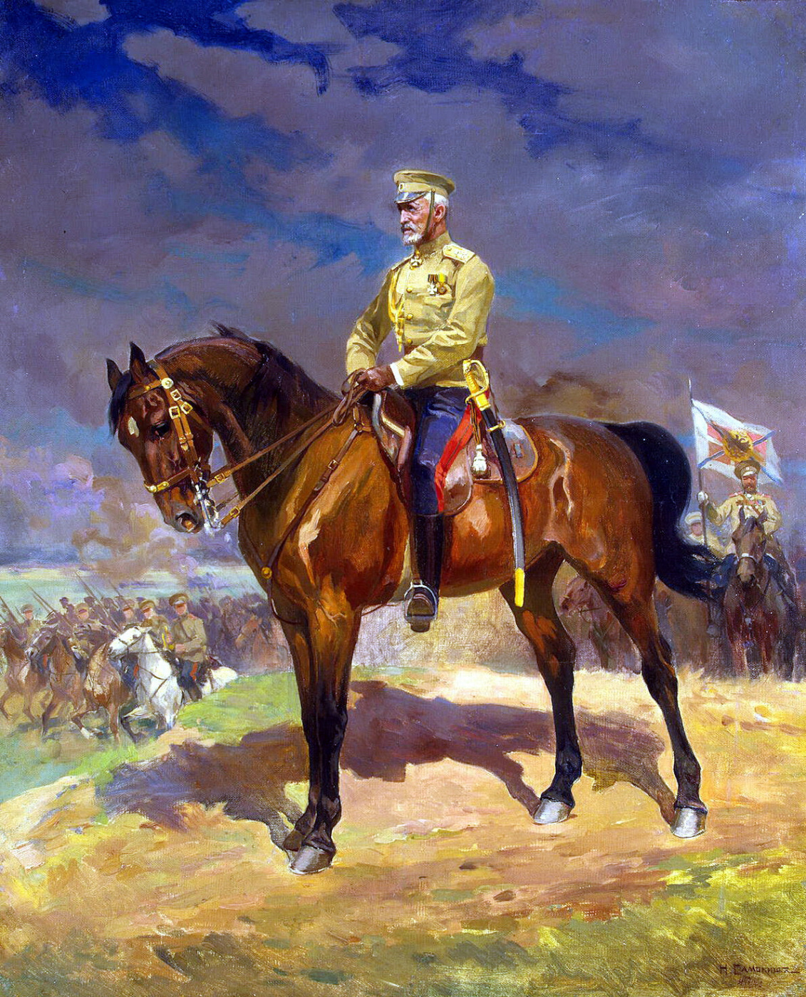 Nikolay Semenovich Samokish. Portrait of Grand Duke Nikolai Nikolaevich