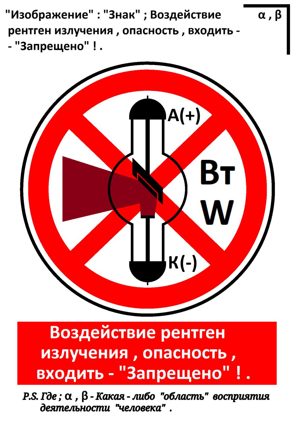 "Arthur Gabdrupes. ""Image"": ""Sign""; Exposure to X-ray radiation, danger, enter - ""Forbidden""! ... 2021"