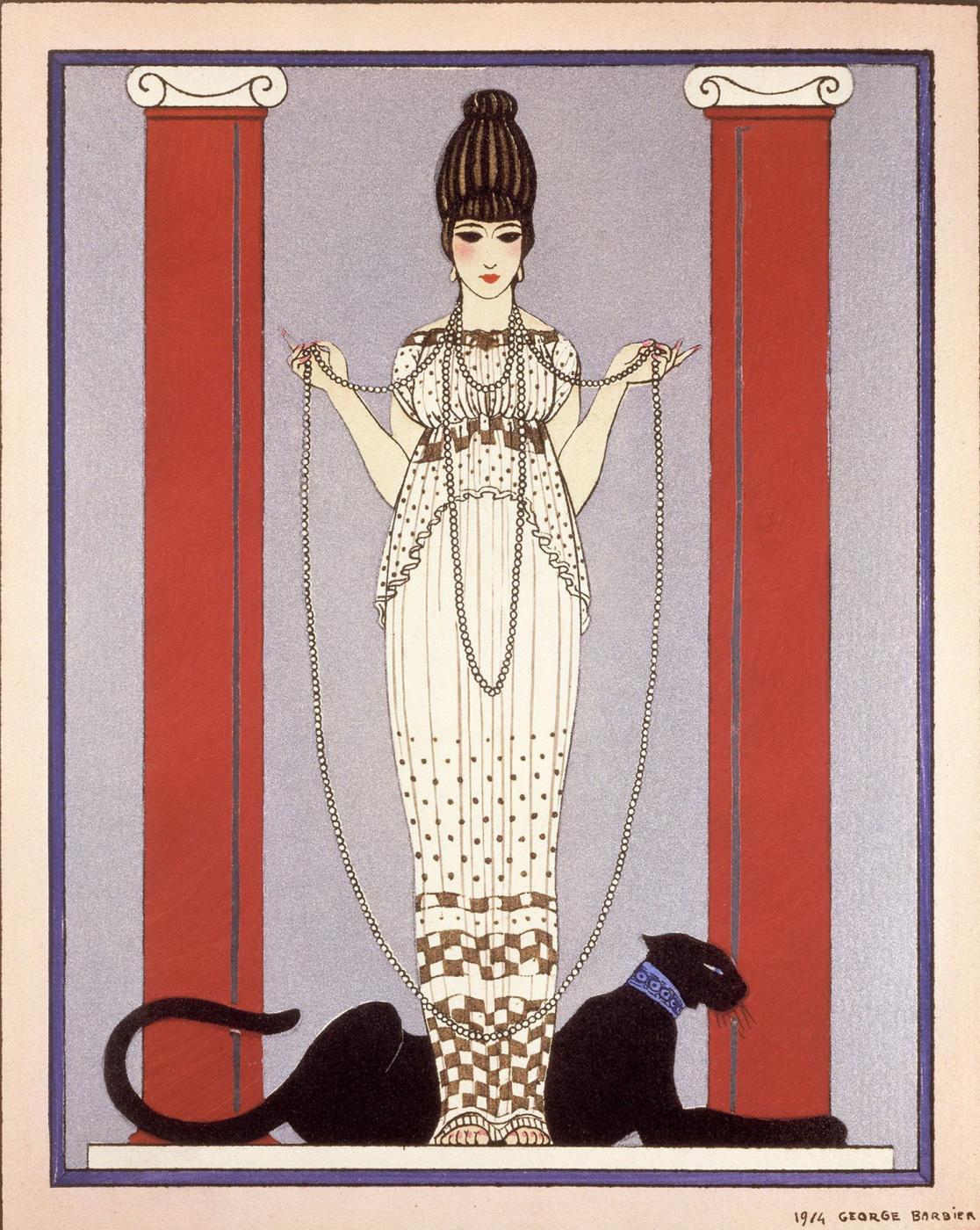 Жорж Барбье. Дама с пантерой