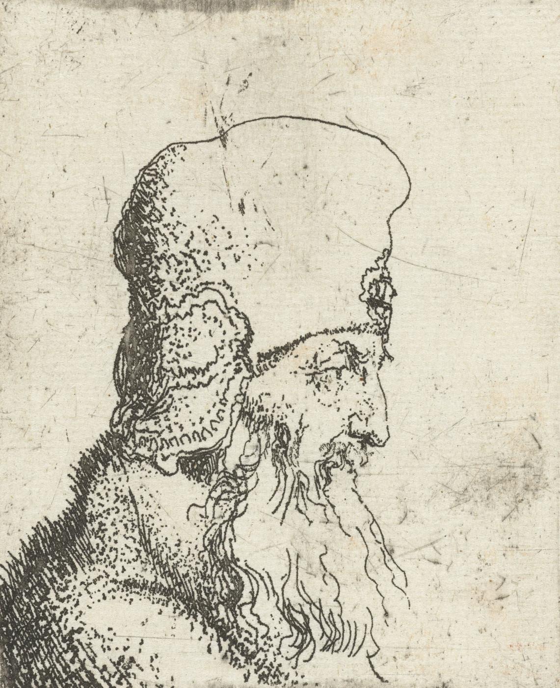 Jan Lievens. A bearded man in a high hat
