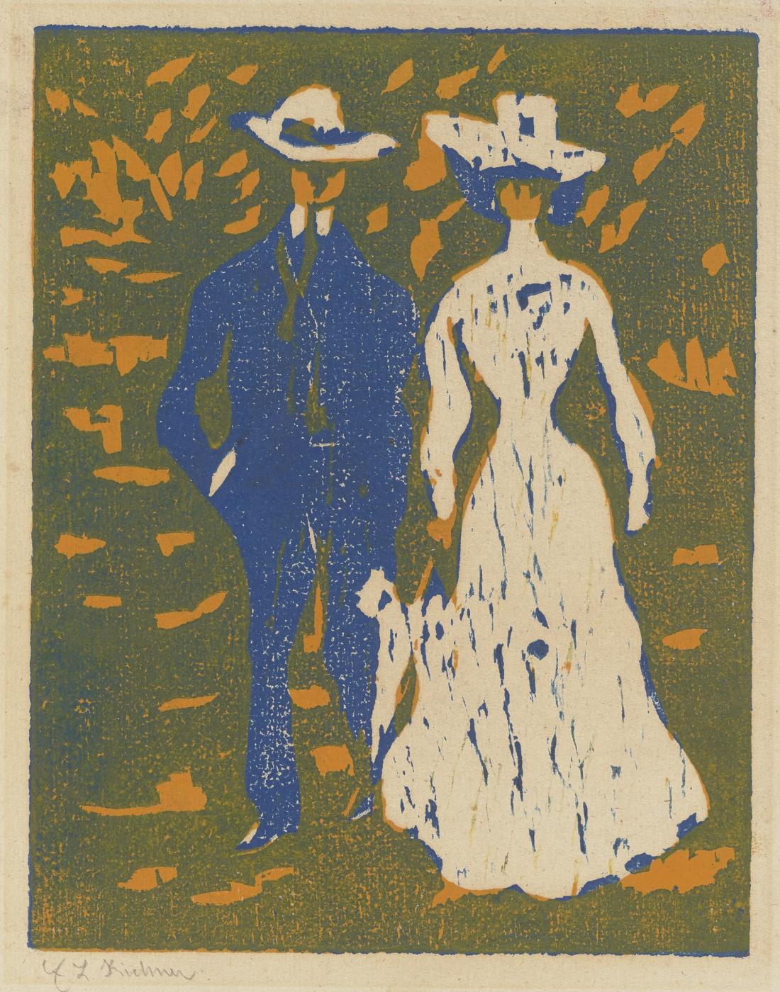 Ernst Ludwig Kirchner. Newlyweds