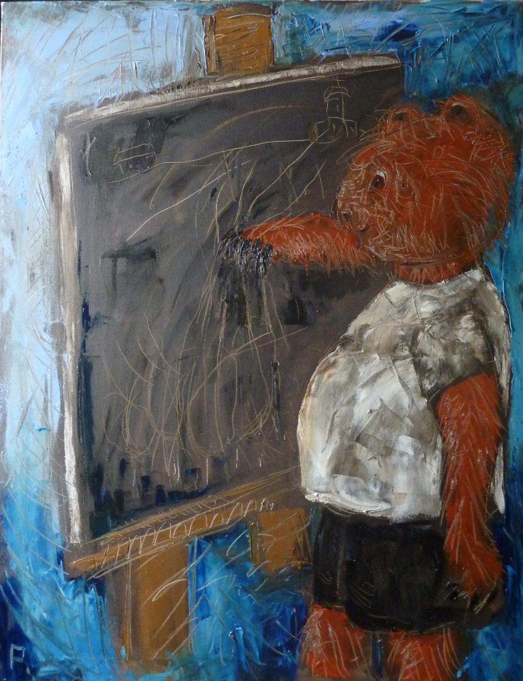 Svyatoslav Svyatoslav Ryabkin Ryabkin. Bear at easel Медведь у мольберта