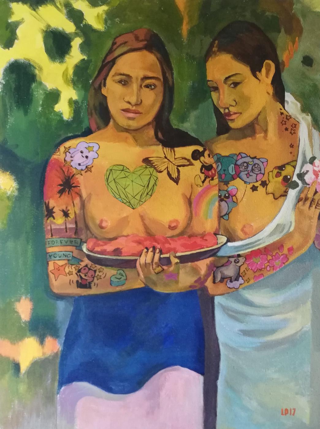 Lubov Harlanova. Two Tahitian Woman 2.0
