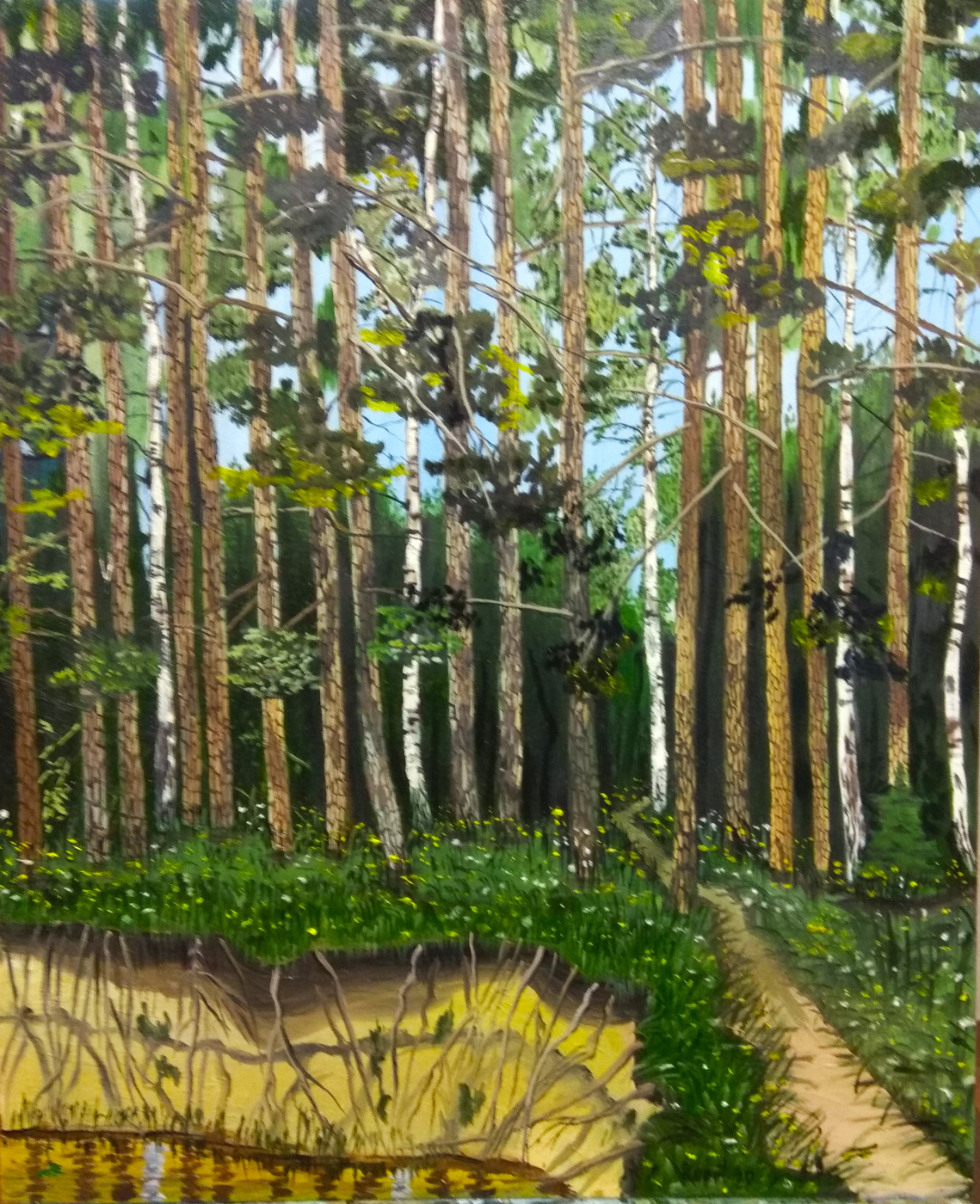 Vladimir Adamovich Ropot. Forest stream path