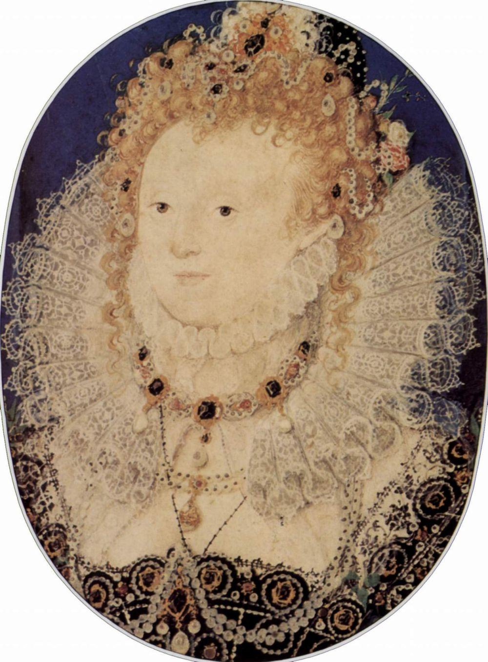 Nicolas Hilliard. Portrait of Elizabeth I, Queen of England