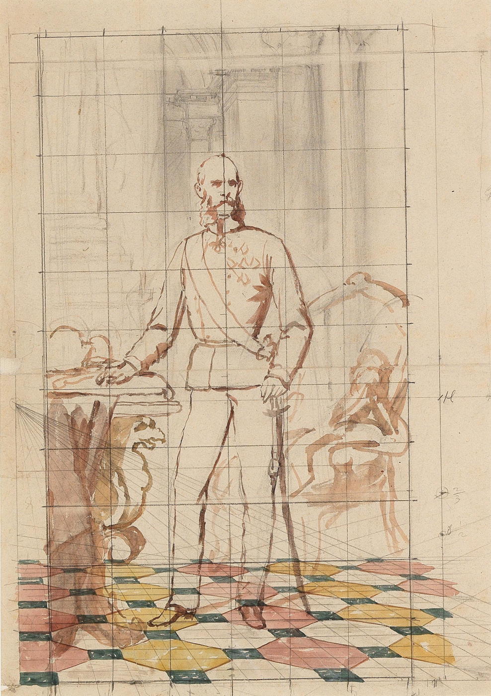 Carl von Blaas. Studie von Kaiser Franz Joseph. I. in Uniform