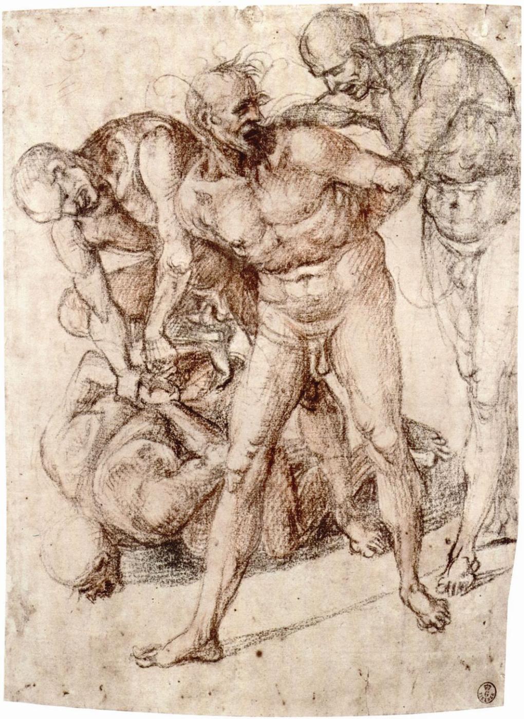 Luke Signorelli. Naked, bind the captives