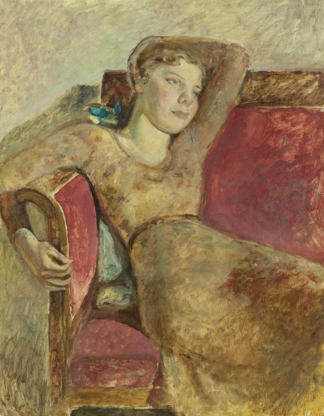 Balthus (Balthasar Klossovsky de Rola). Seated Girl (Portrait of Antoinette)