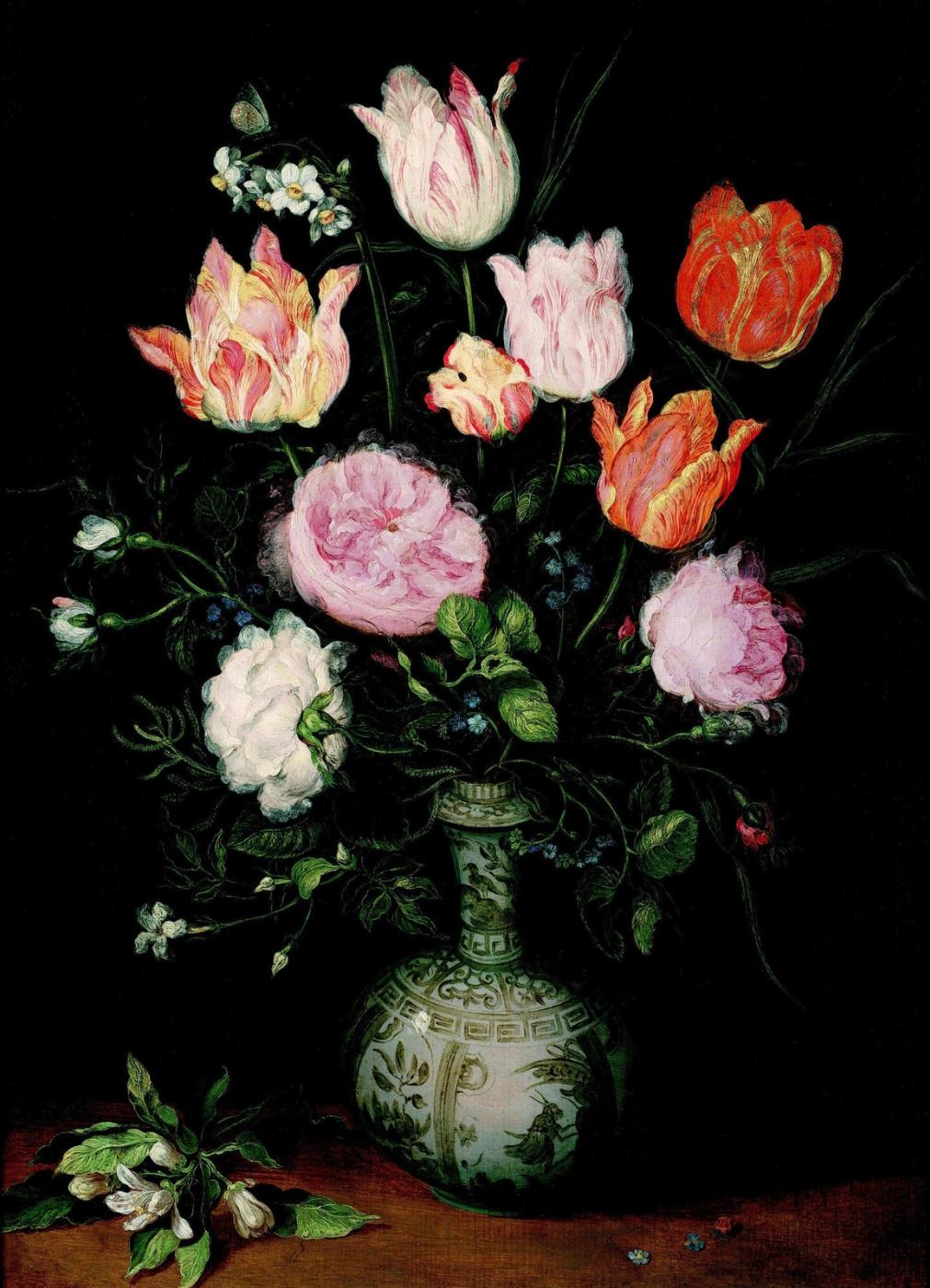Jan Bruegel The Elder. Flowers in a Chinese Vase