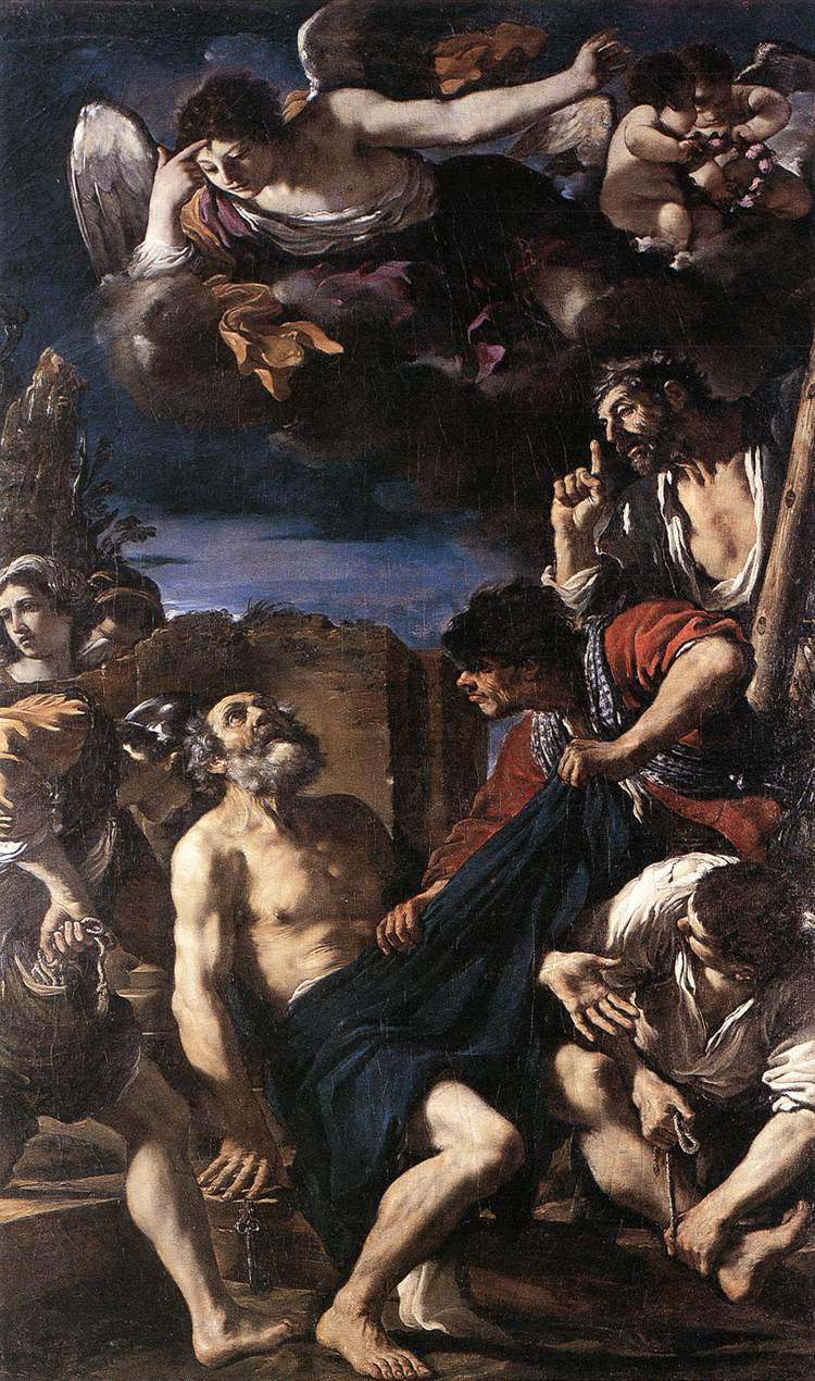 Giovanni Francesco Guercino. The Martyrdom Of St. Peter
