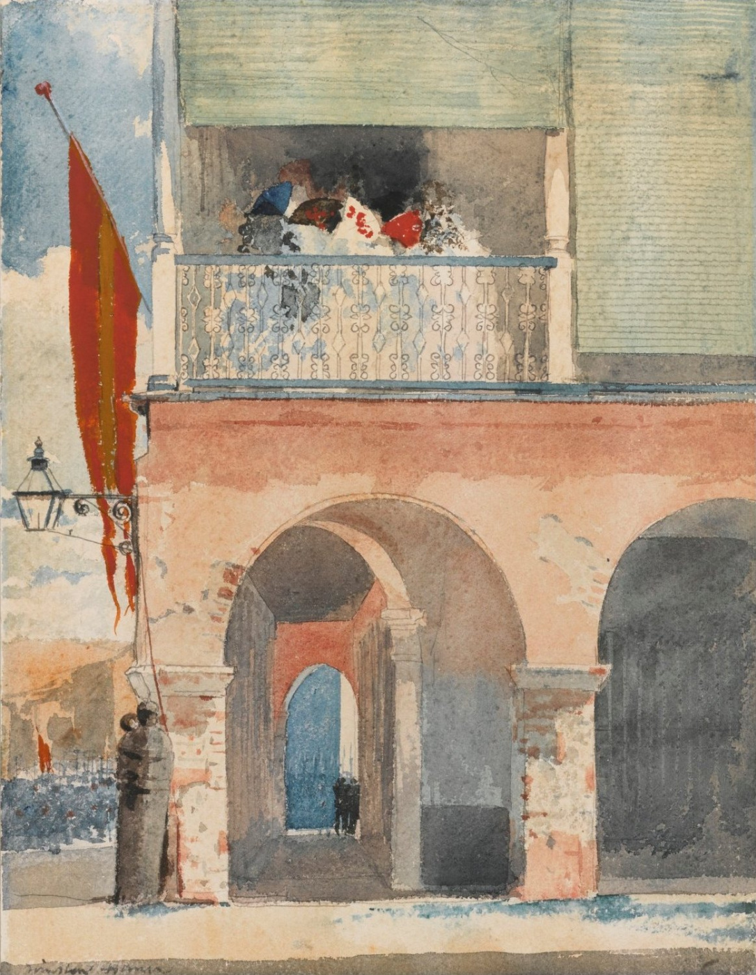 Winslow Homer. The customs house. Santiago de Cuba