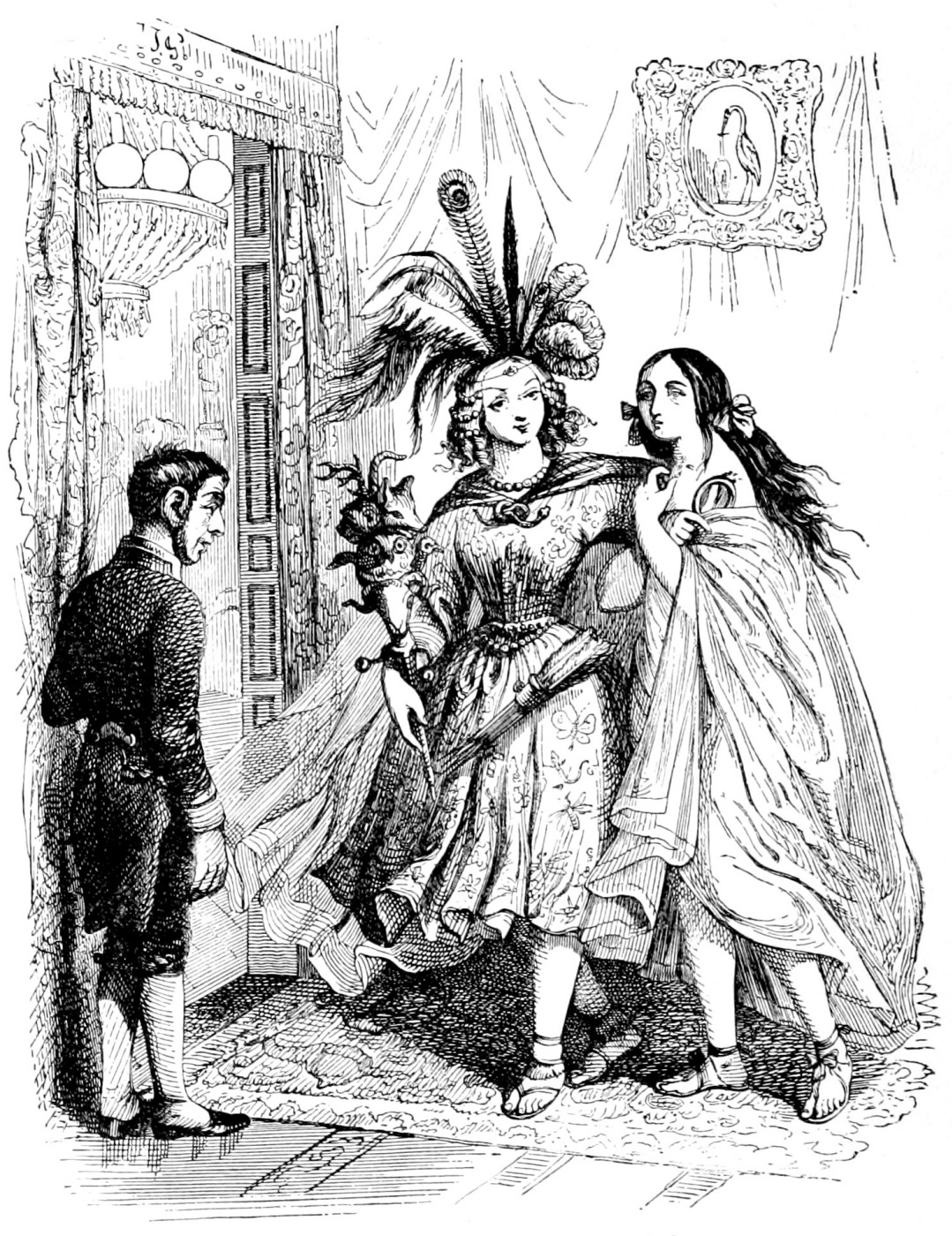 Jean Inias Isidore (Gerard) Granville. Truth and lie. Illustrations to the fables of Florian