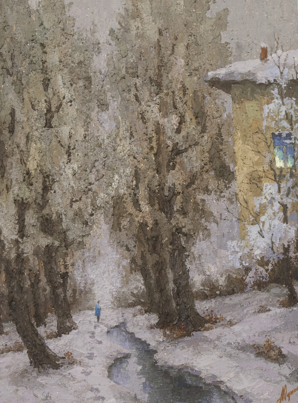Alexander Vasilievich Yudintsev. First snow