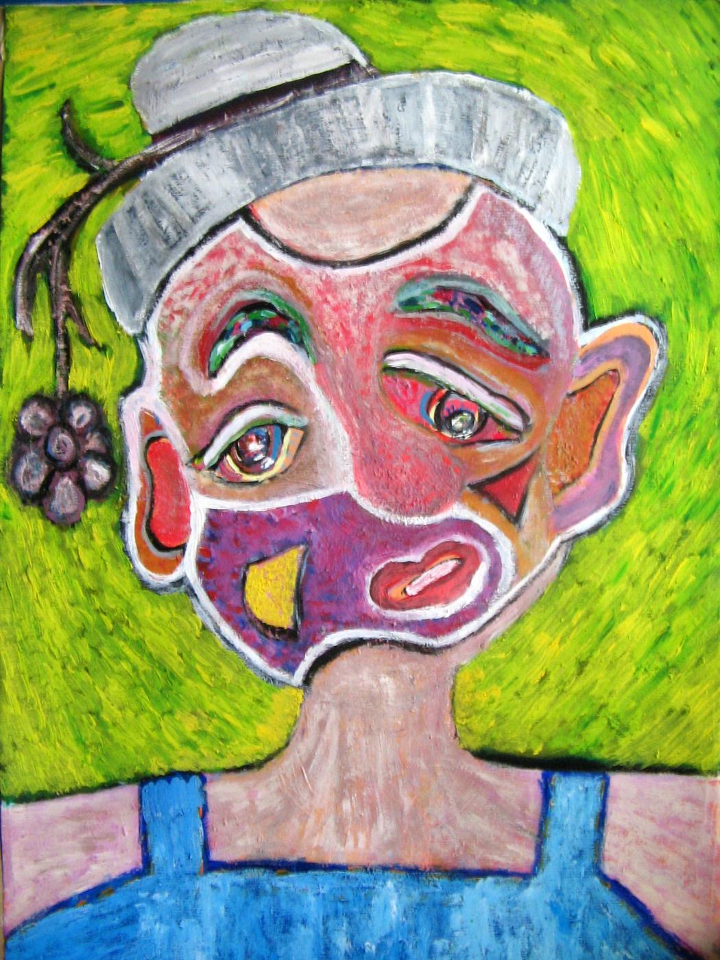"Tatyana Turanova. Painting ""Red Clown"""