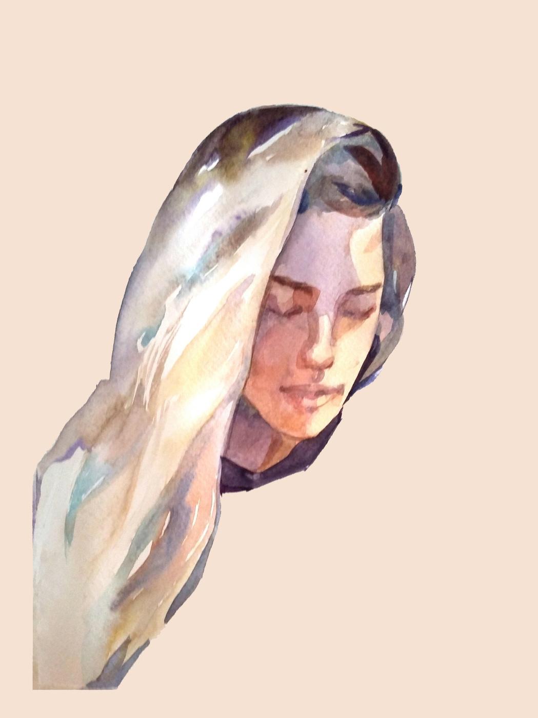 Lera Lera. Watercolor portrait