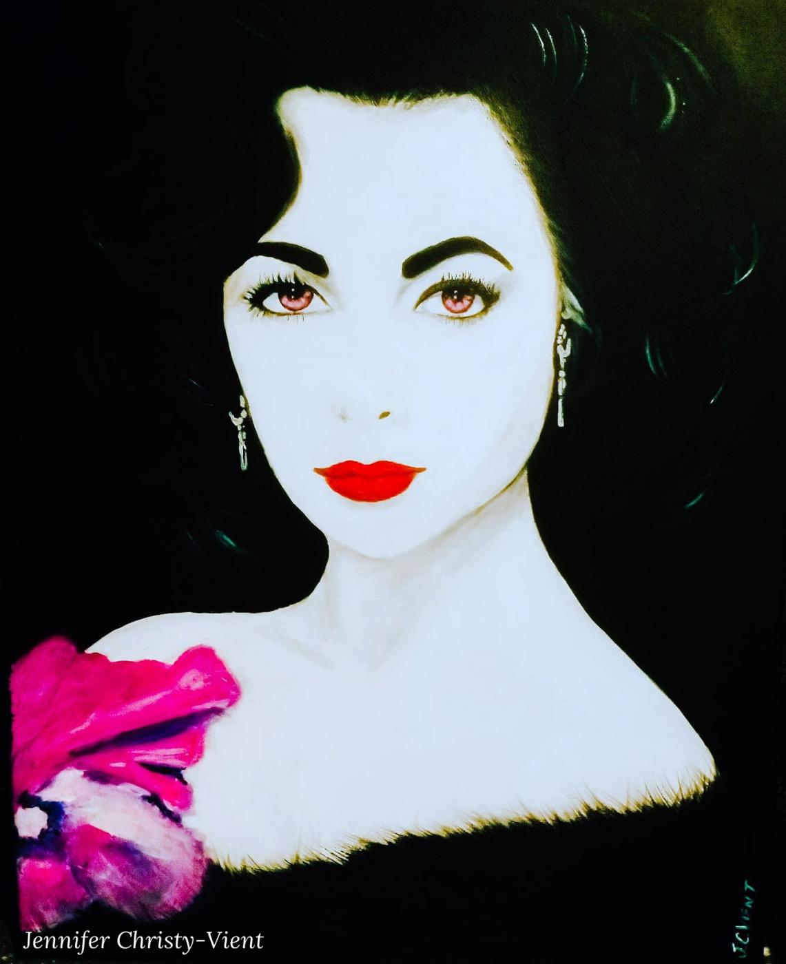 Jennifer Christy-Vient. Portrait of Elizabeth Taylor