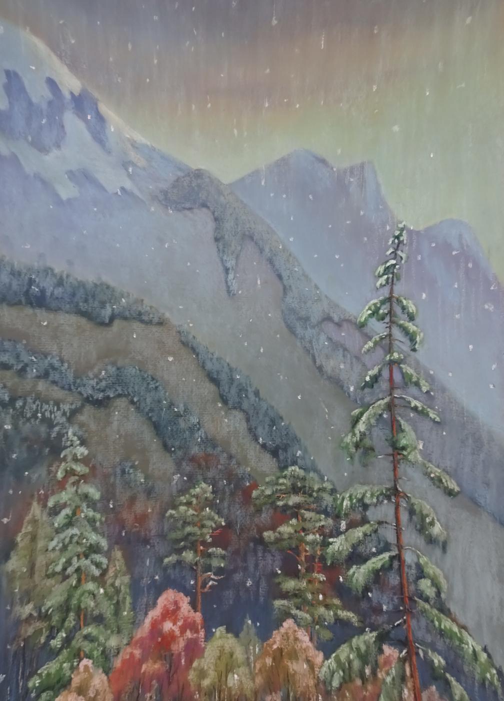 Sergey Ivanovich Elizarov. First snow in the mountains