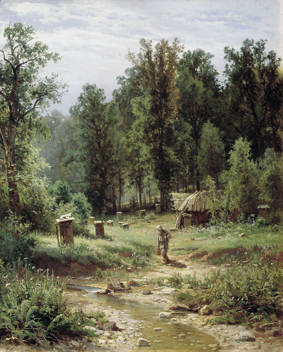 Ivan Ivanovich Shishkin. Apiary in a forest