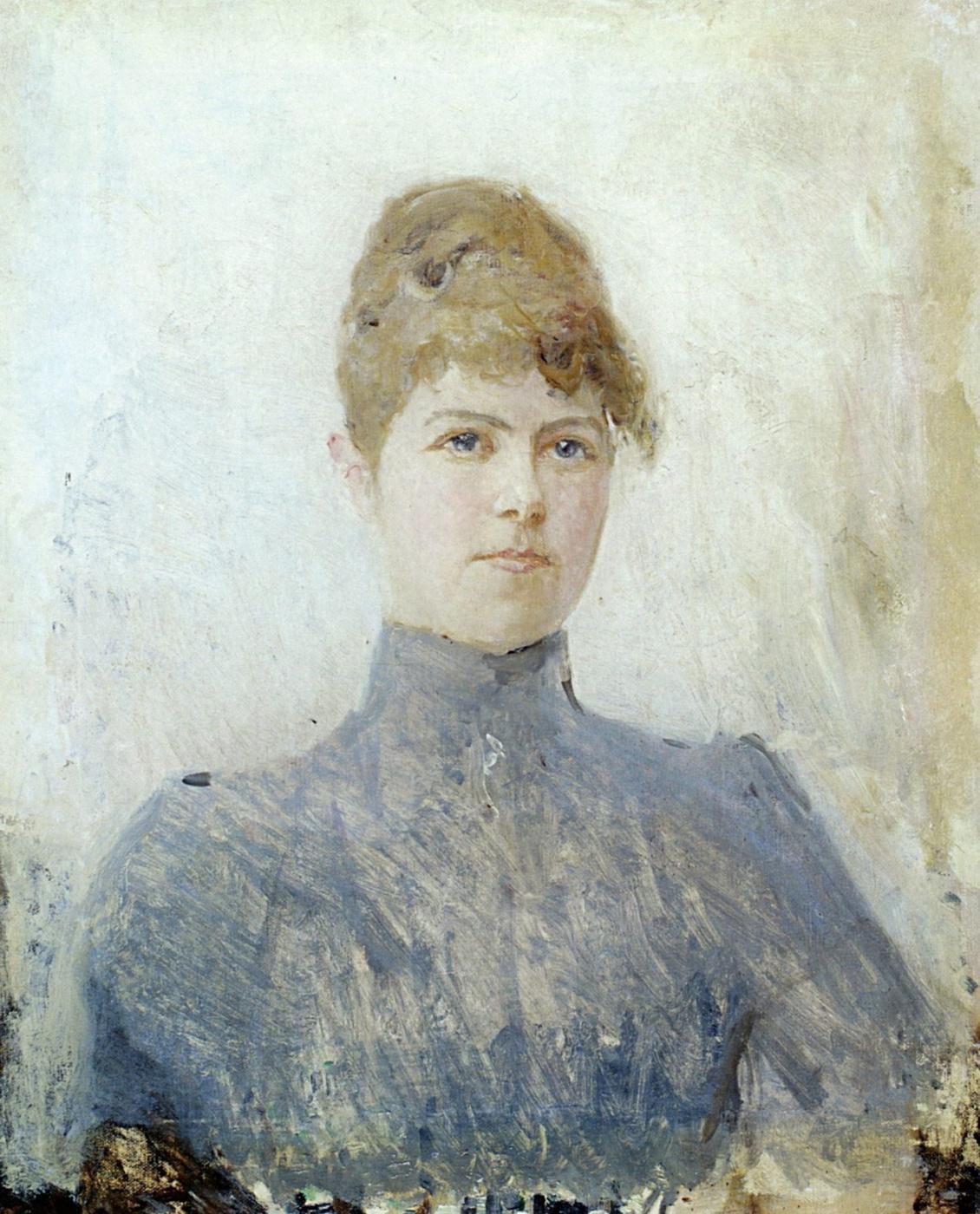 Valentin Aleksandrovich Serov. Portrait of the actress Maria Yakovlevna van-Zandt, in a marriage Chernovoy