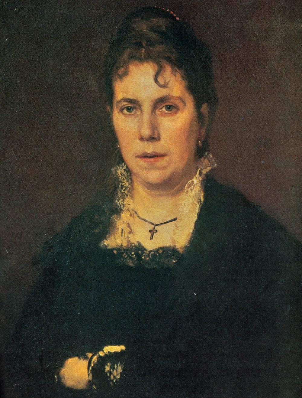 Ivan Nikolayevich Kramskoy. Portrait Of Sofia Nikolaevna Kramskoy. Fragment