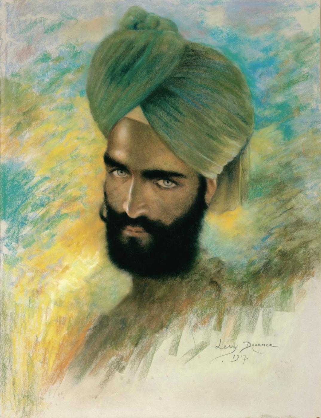 Lucien Levi-Durme. Sikh. 1917