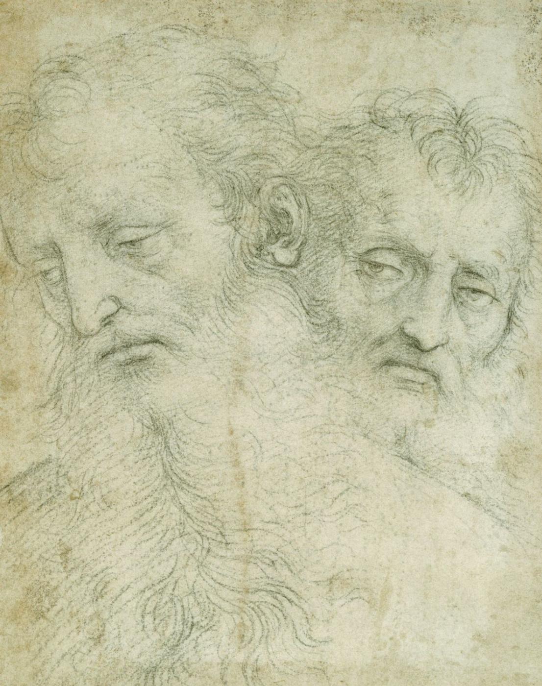 Raphael Sanzio. Sketch portraits of the two apostles