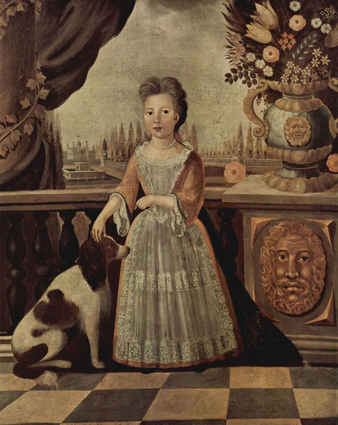 Justus Engelhardt Kyun. Portrait Of Eleonora, Darnall