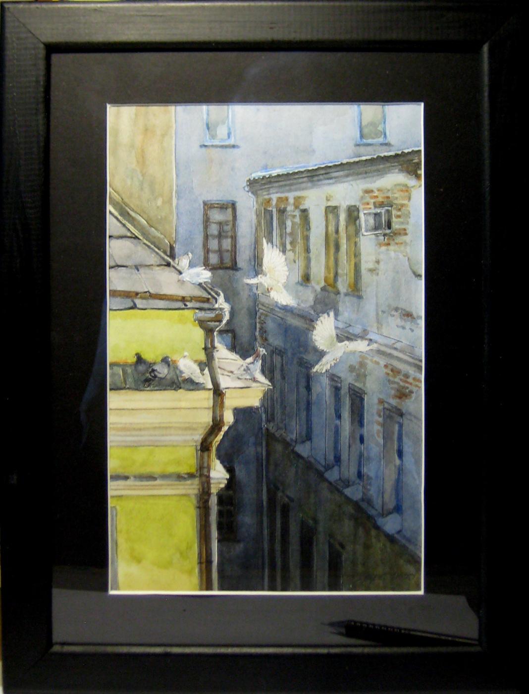 Sergey Rafailovich Zakernichny. Moscow. Kuznetsky Most. View from the window.