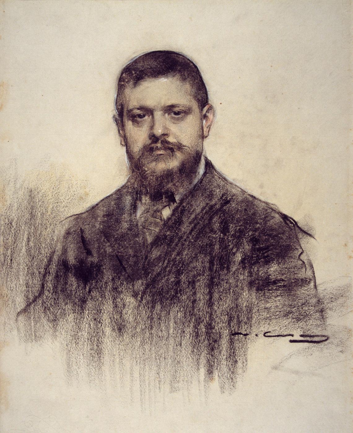 Ramon Casas i Carbó. Portrait of Jaume Carnera