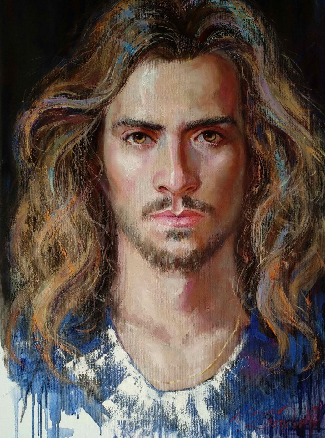 Виталий Викторович Жердев. Portrait of the Italian actor and singer Luca Giacomelli Ferrarini