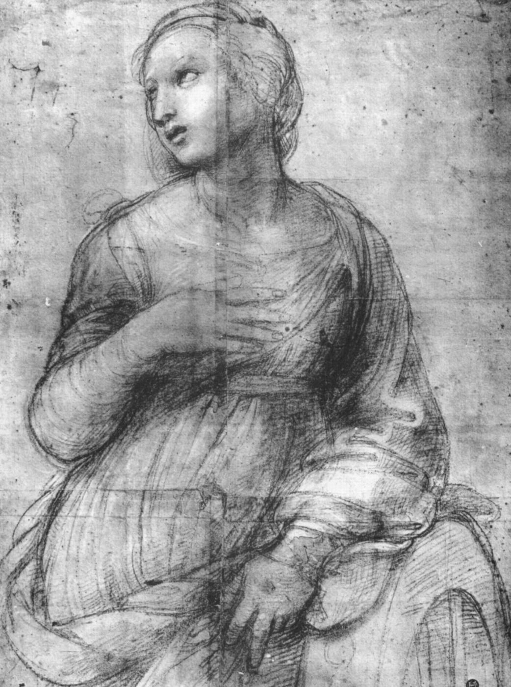 Raphael Sanzio. Saint Catherine Of Alexandria. Sketch