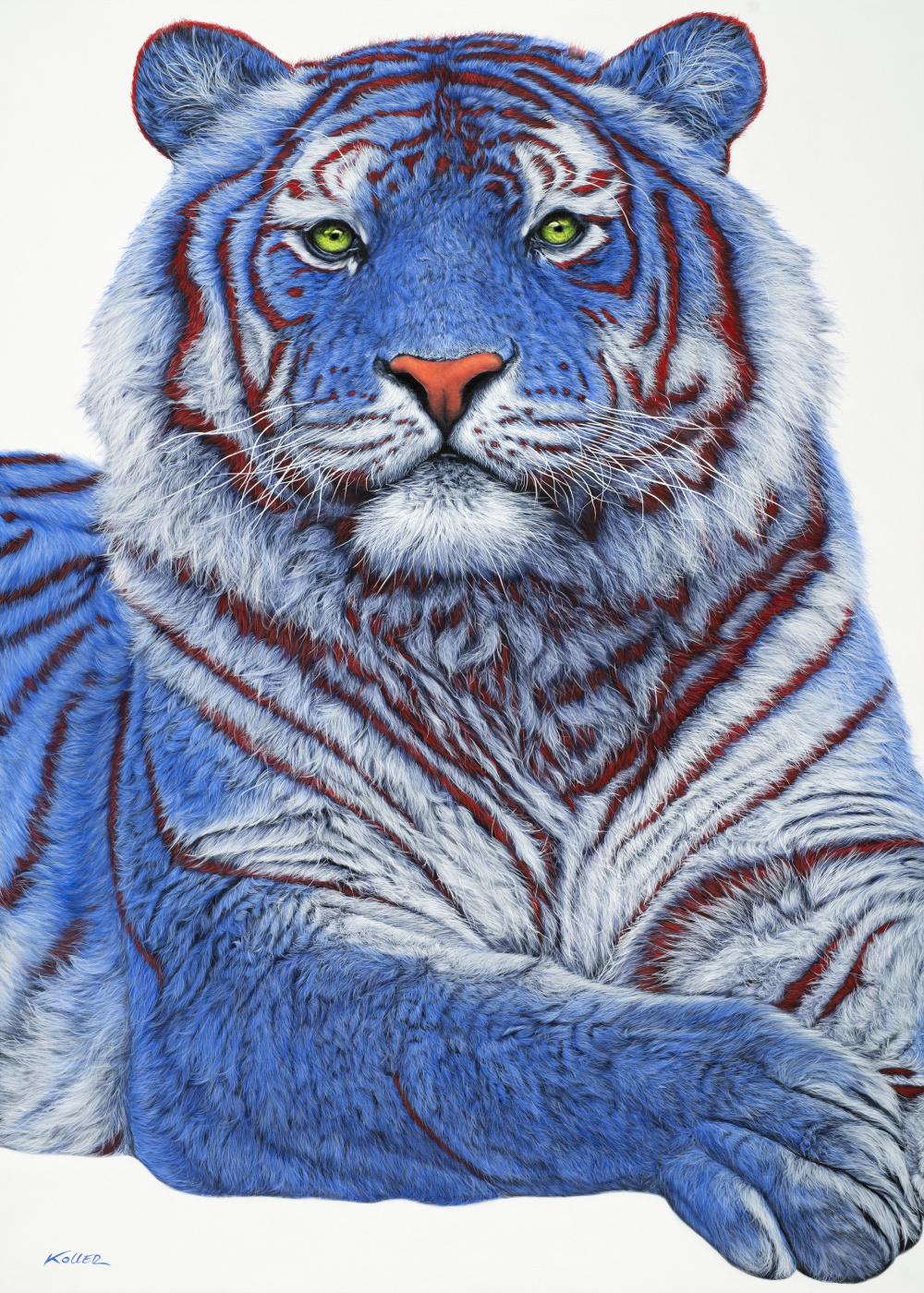 Helmut Koller. SIBERIAN TIGER IN BLUE