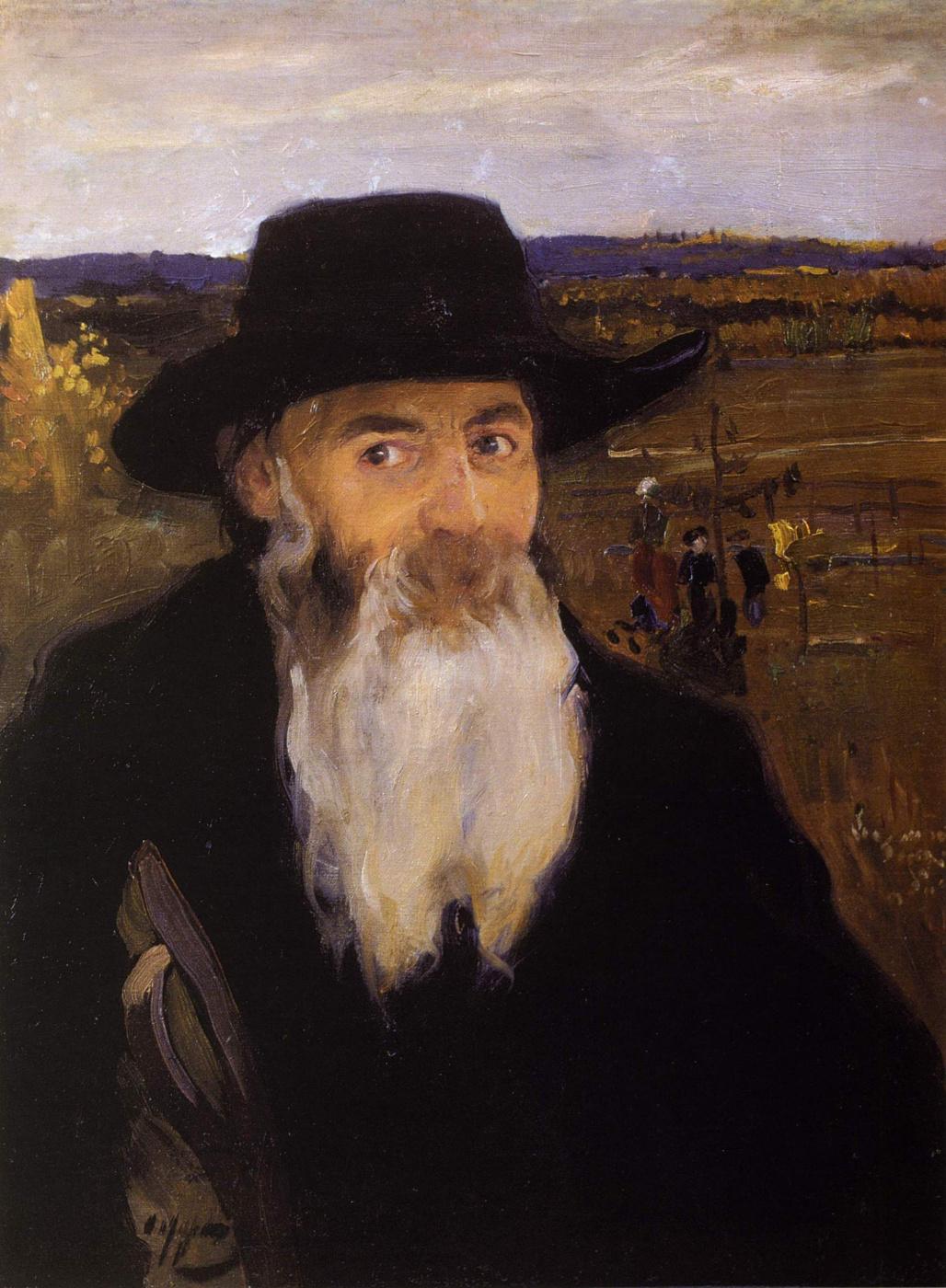 Alexander Murashko. Old teacher (a portrait of the artist N. And. Murashko)