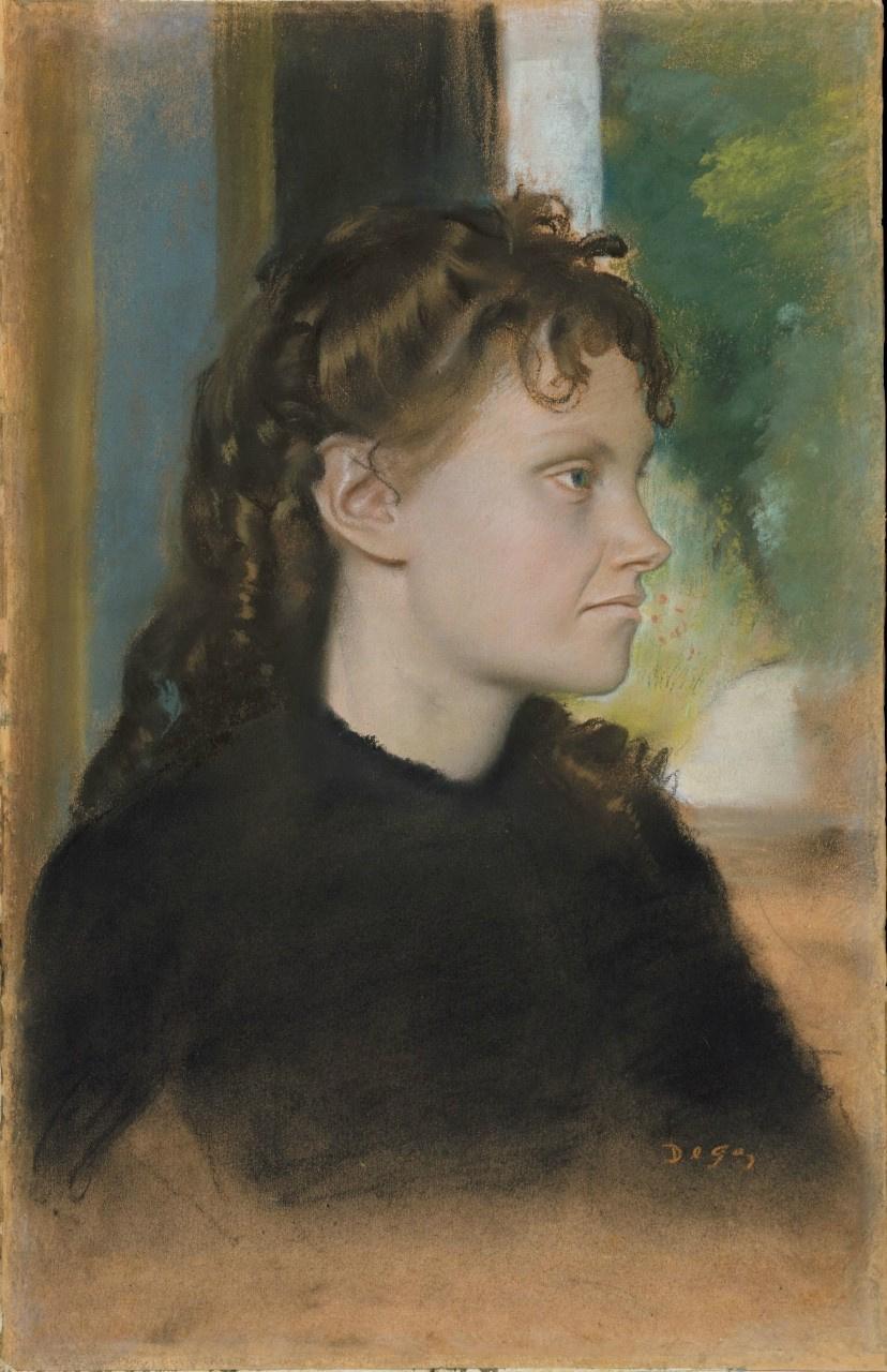 Edgar Degas. Madame Theodore Gobillard, nee Yves Morisot