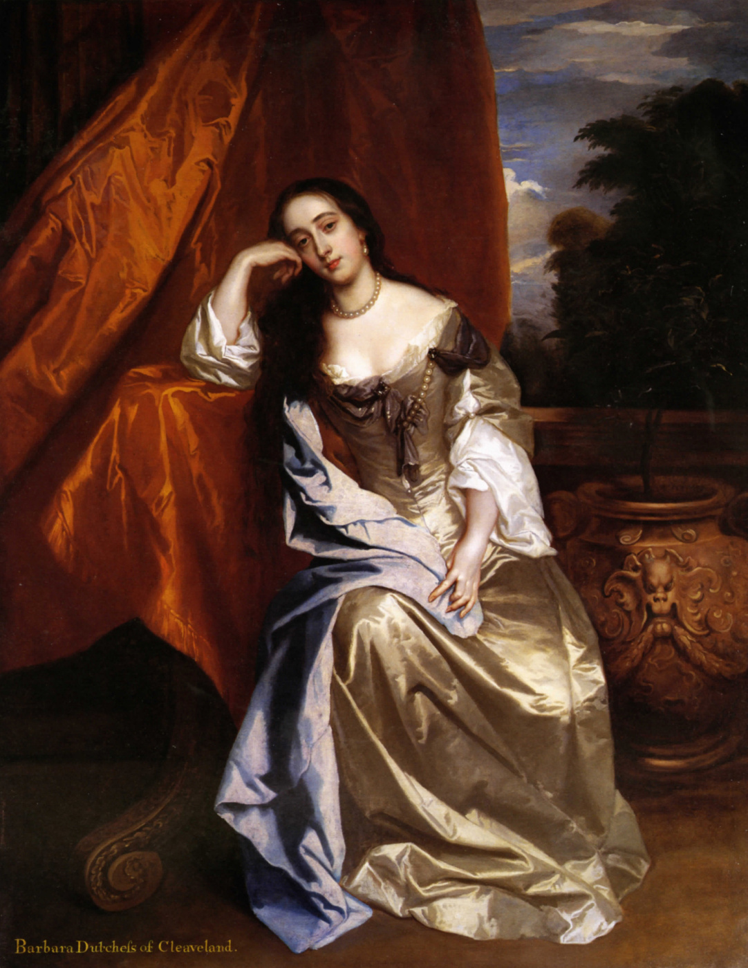 Sir peter leli. Portrait of Barbara Palmer
