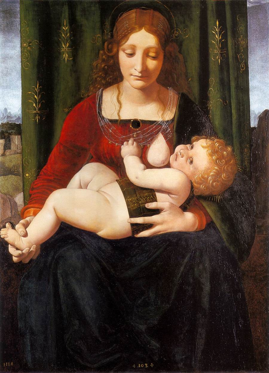 Giovanni Antonio Boltraffio. The Madonna and child