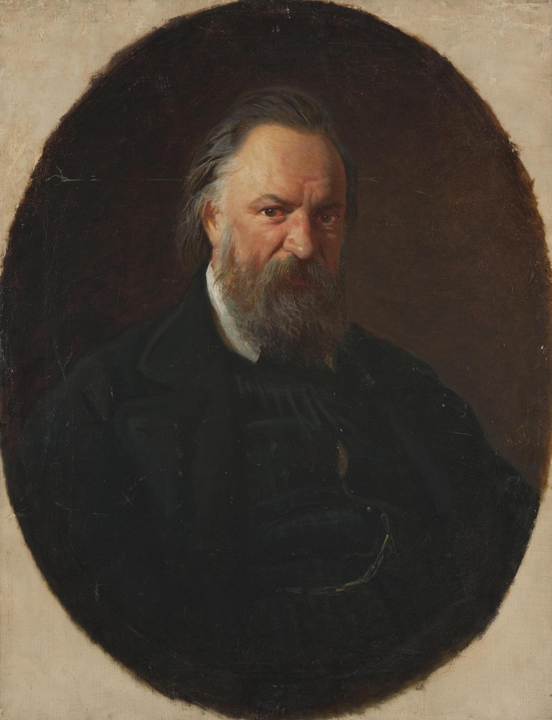Nikolai Nikolaevich Ge. Portrait Of A. I. Herzen. Repetition