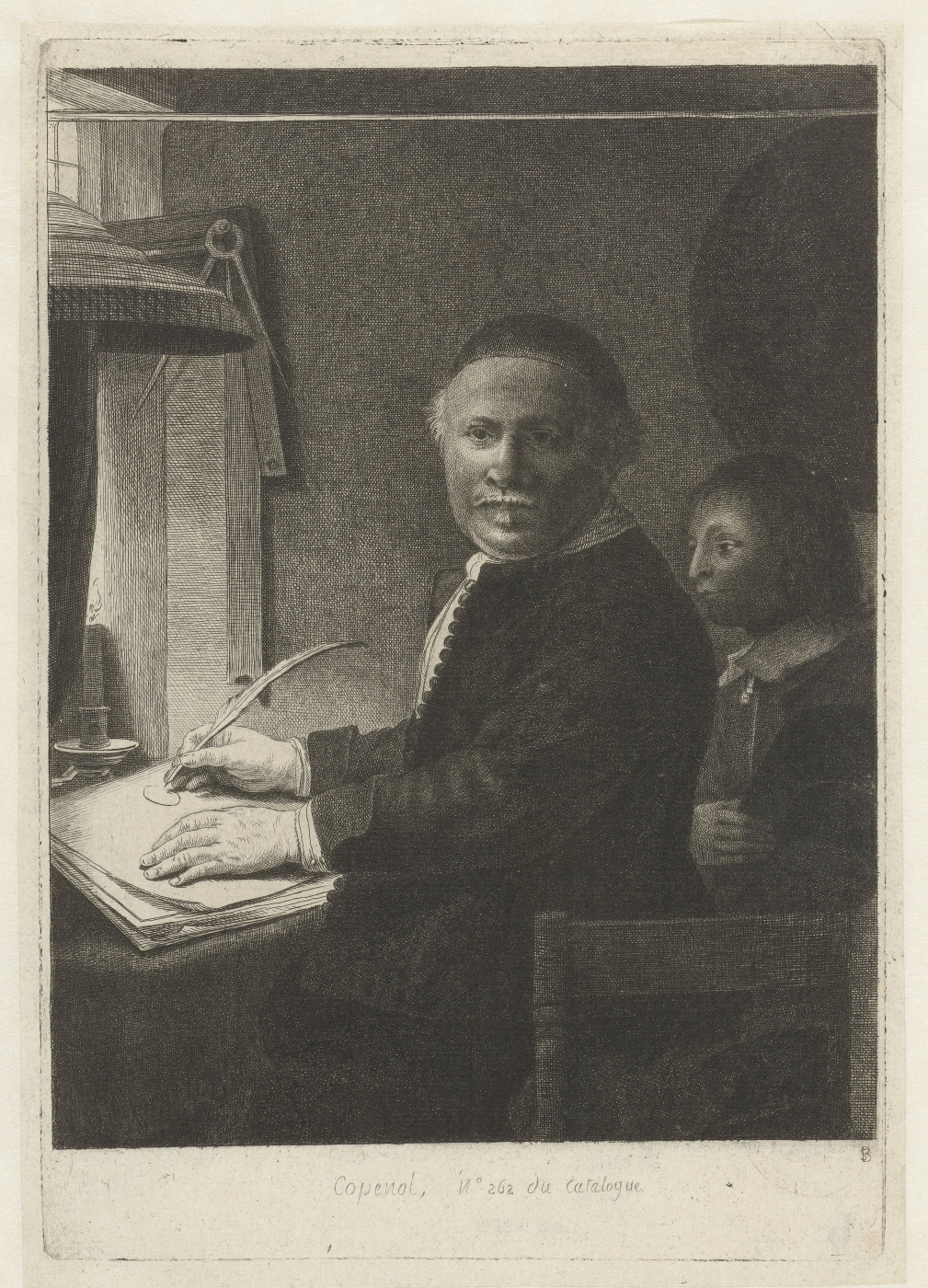 Rembrandt Harmenszoon van Rijn. A portrait of the calligrapher Lieven Willems Coppenole