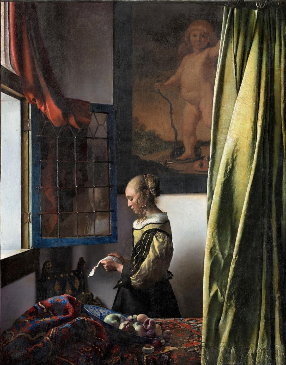 Jan Vermeer. Girl a letter at an open window