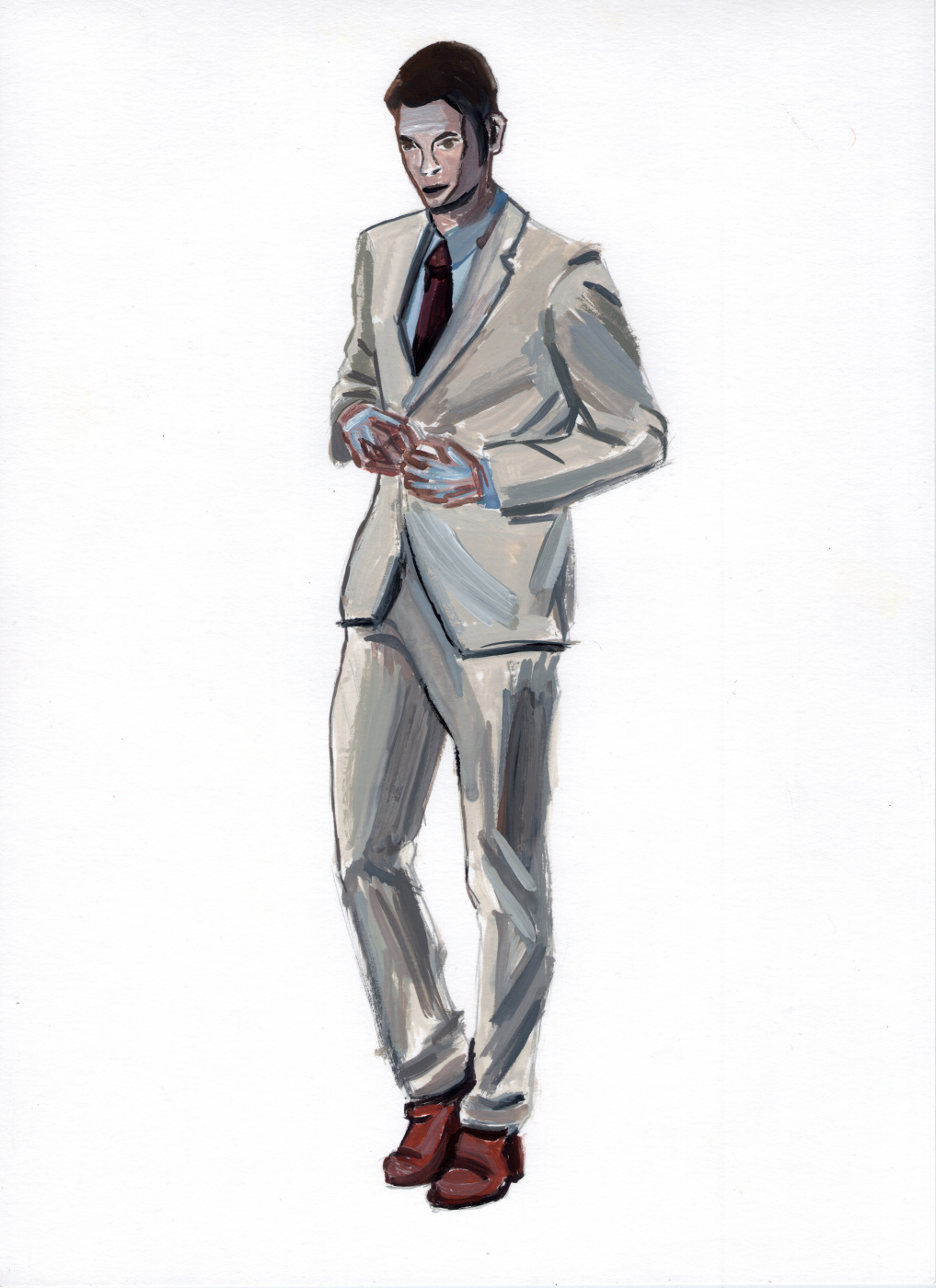 Polina. A man in a suit. Etude