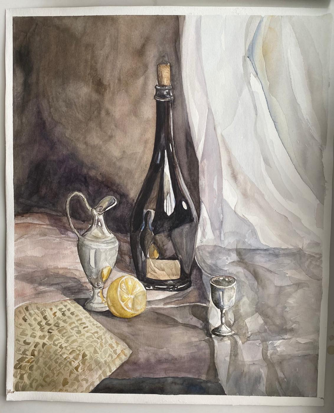 Andrey Evgenievich Levkovsky. Silver still life