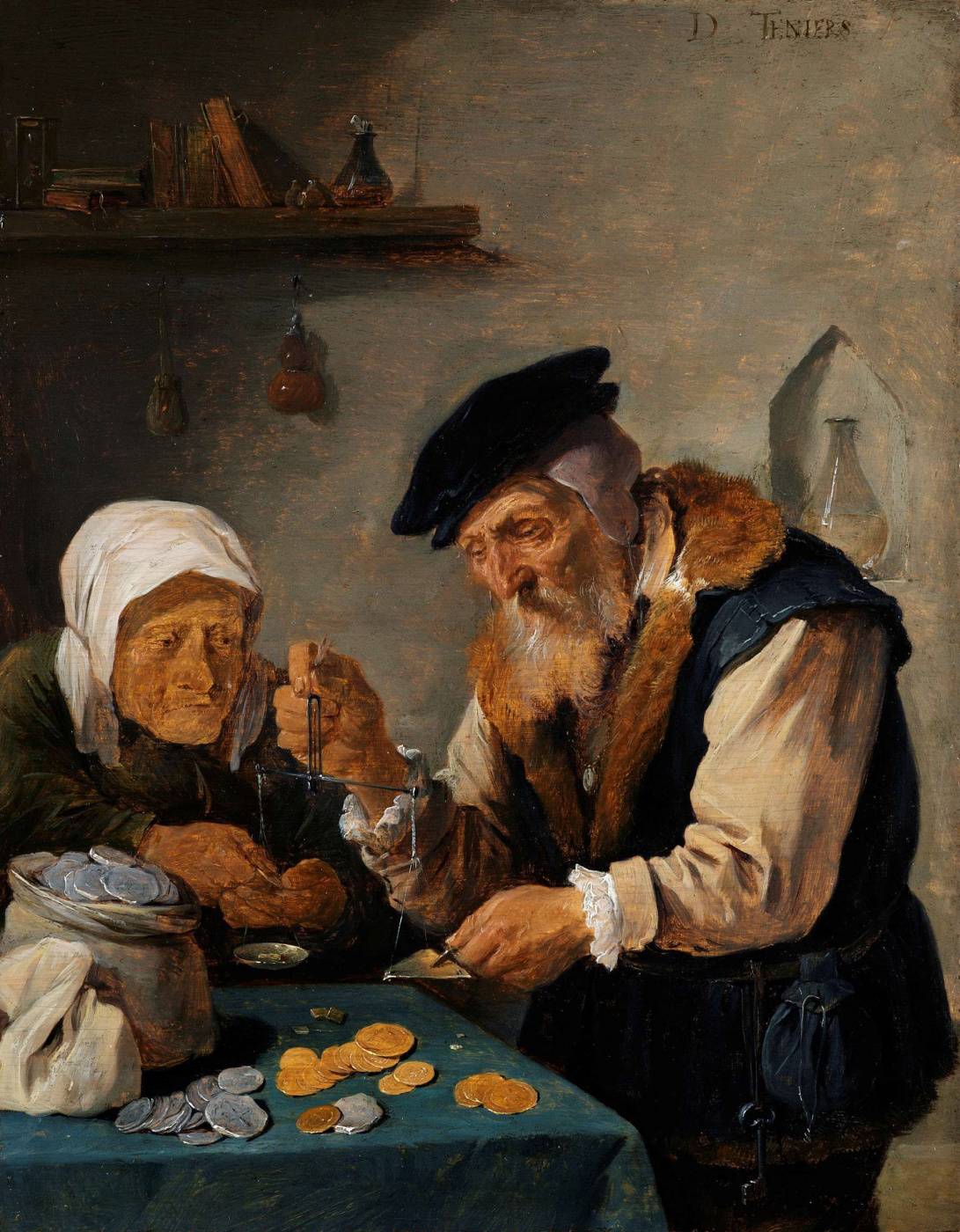 David Teniers the Younger. Allegory of Greed